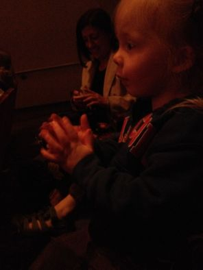 At the Symphony, clapping along