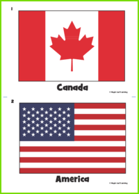 Country Flag Flashcards Maple Leaf Learning Library