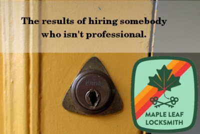 Hire me, your key will still work in your lock. Hire a $19 idiot calling himself a locksmith and you will pay more but get less, like a non-working lock.