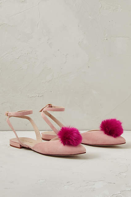 Blushed Rose Pom Pom Sandals Maple Mag