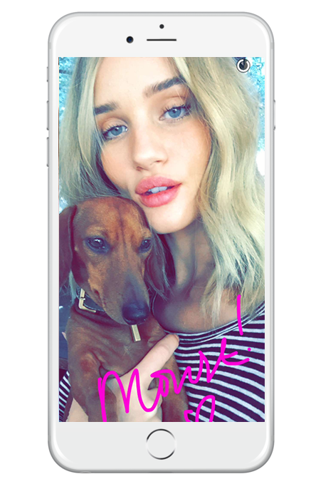 rosie-huntington-whiteley-snapchat Maple Mag