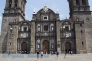Fasade of the Puebla Church