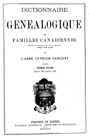 Tanguay title page, vol. 1