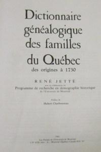 Jetté's Dictionnaire title page
