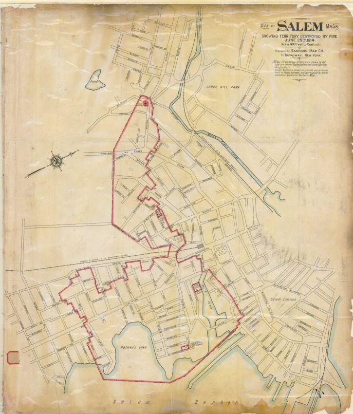 Map of Salem fire