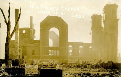 St. Joseph's Church after the Great Salem Fire