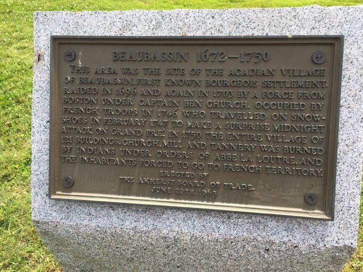 Beaubassin plaque
