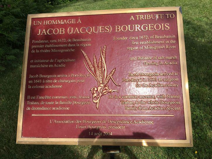 Bourgeois plaque