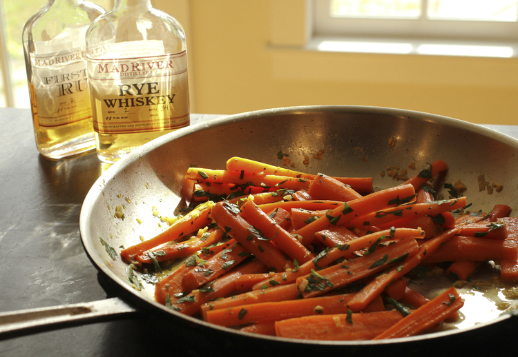 Whisky Barrel-aged Maple Glazed Carrots