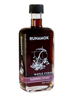 Runamok Elderberry Infused Maple Syrup