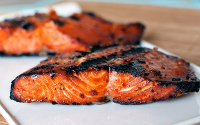 Grilled Salmon with Smoked Maple Syrup