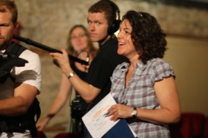 eliza crosland directing on set