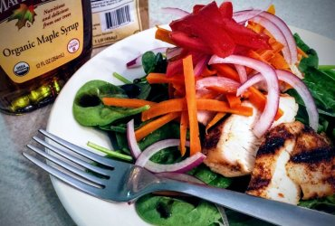 Dry Rub Chicken & Maple Balsamic Vinaigrette