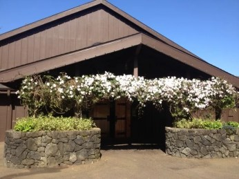 Barn entrance - visitors always welcome.