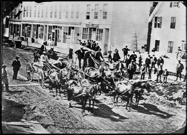 The last stagecoach from St. Paul to Duluth in 1870