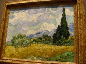 "Vincent Van Gogh: ""Wheat Field with Cypresses"": Metropolitan Museum: NY"