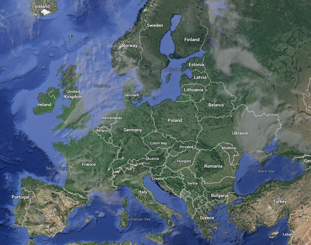 Europe Earth And Maps