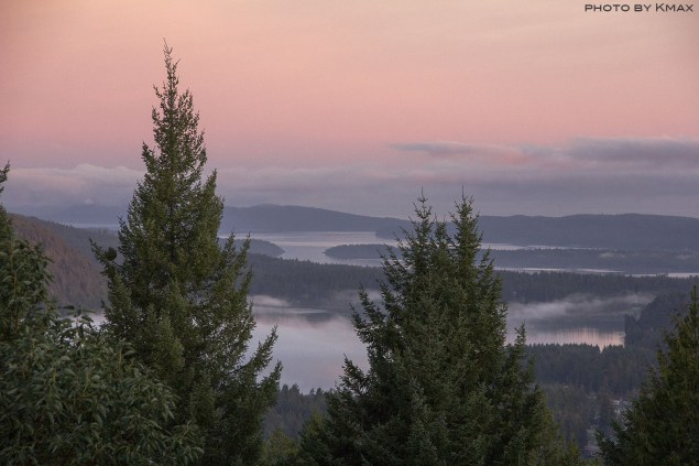 View from Wilkie Way on Salt Spring Island