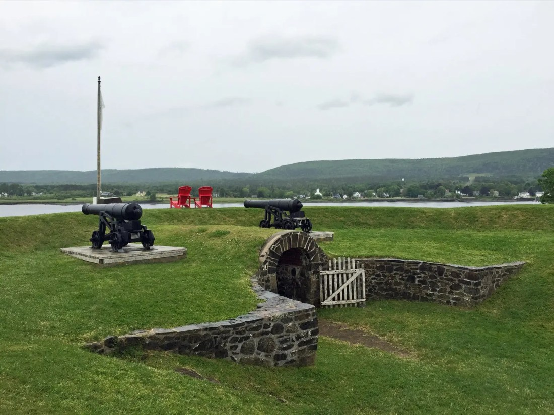 Cannons at Fort Anne National Historic Site in Nova Scotia
