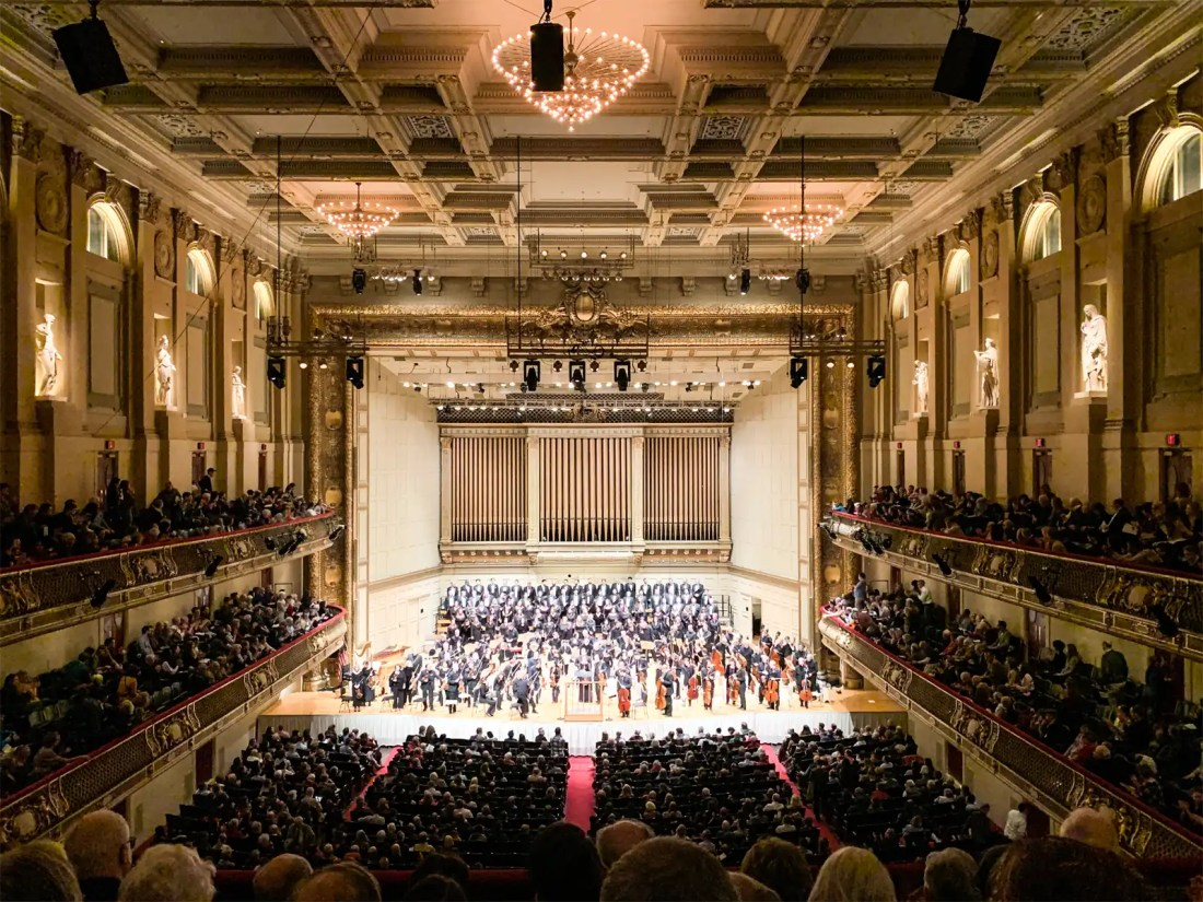 Boston Pops Holiday performance at Boston Symphony Hall