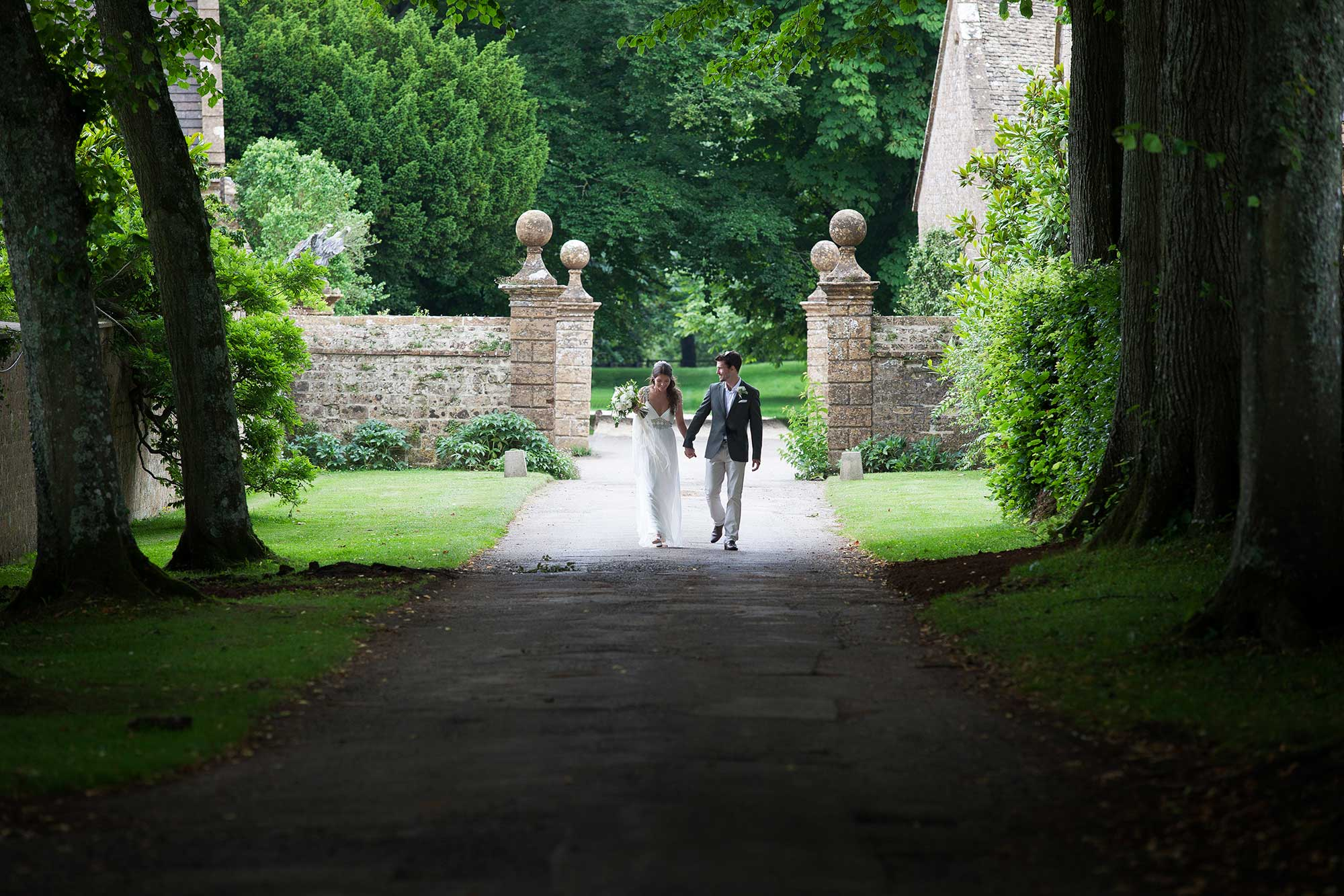 Holly and Calen's wedding at Mapperton House