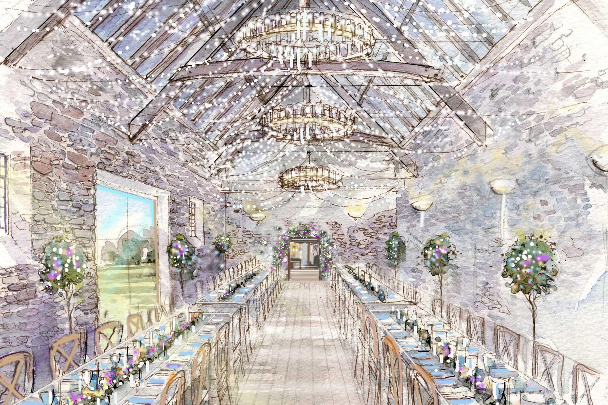 Inside the Coach House at Mapperton - unique Dorset Wedding Venue