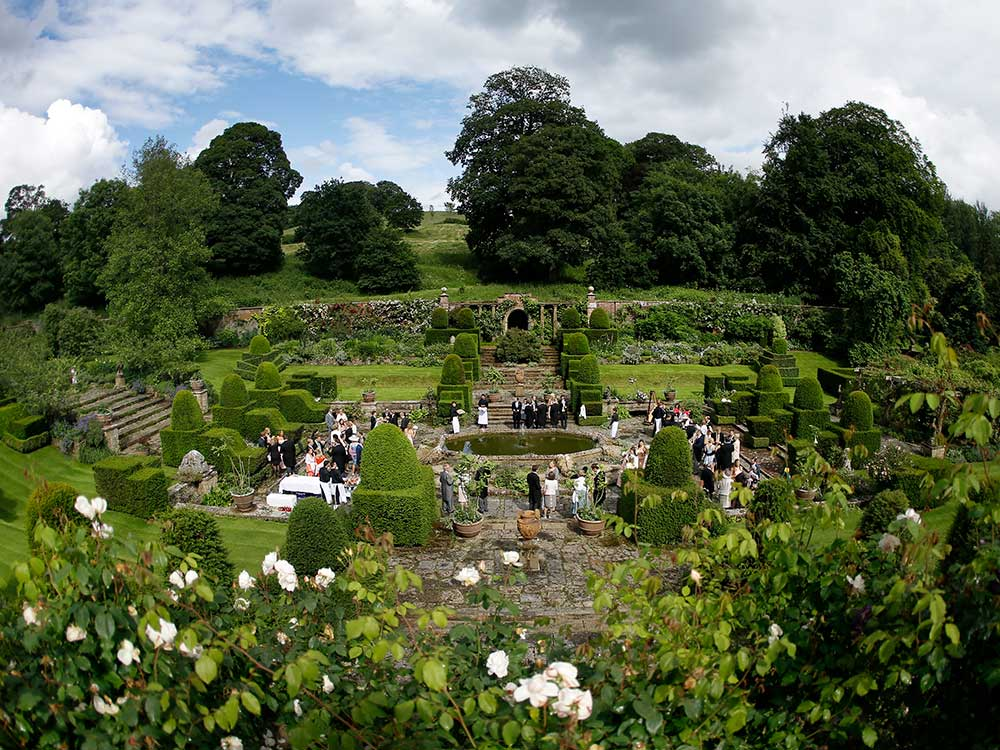 Mapperton Gardens wedding venue in Dorset