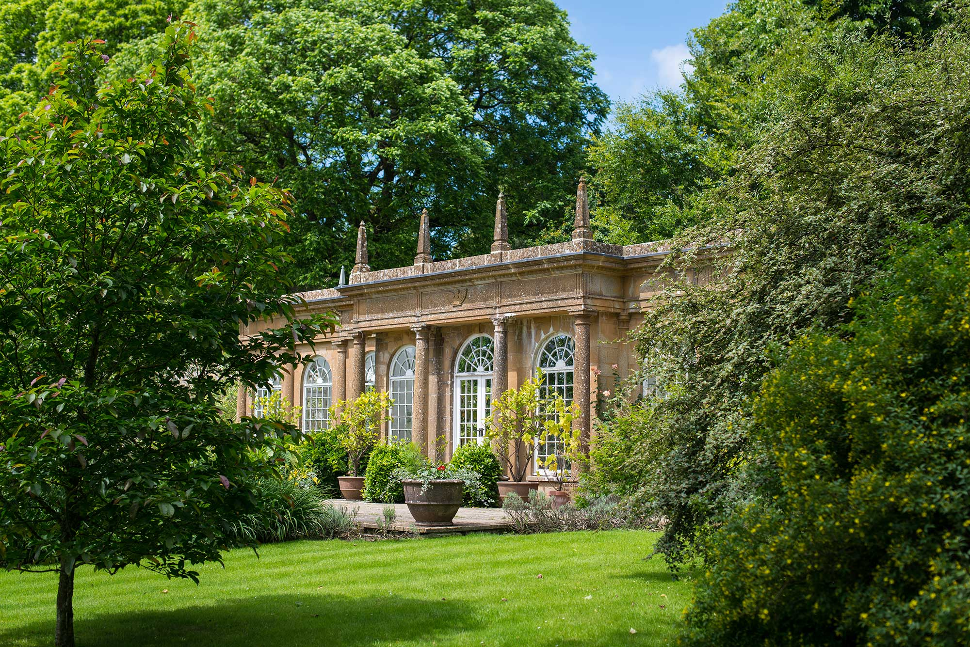 The Orangery at Mapperton House - a unique Dorset country house wedding venue