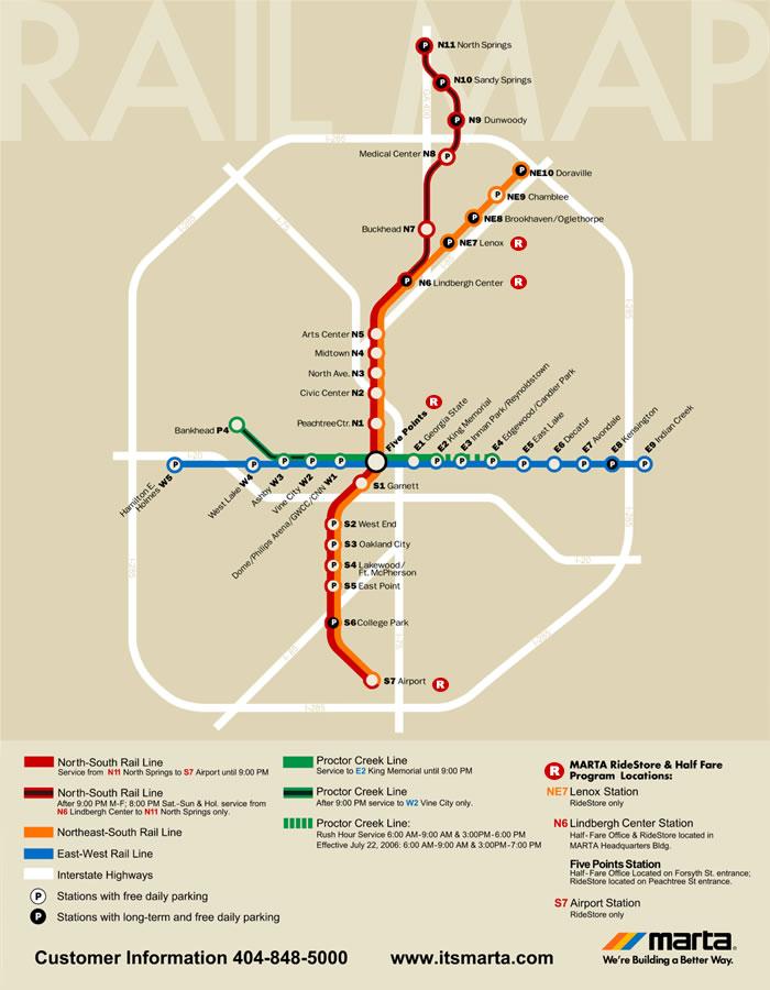 MARTA MAP Atlanta