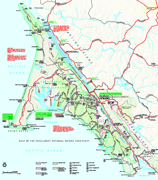 Map of Point Reyes
