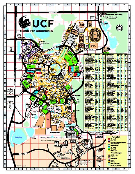 University Central Florida Map
