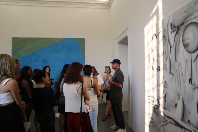 Students at Gallery Crawl.
