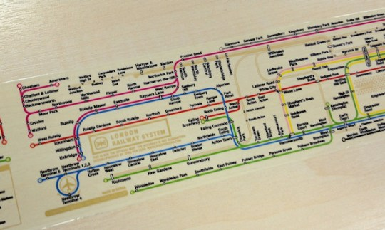 Tube Map Sticky Tape    Mapping London tapeline