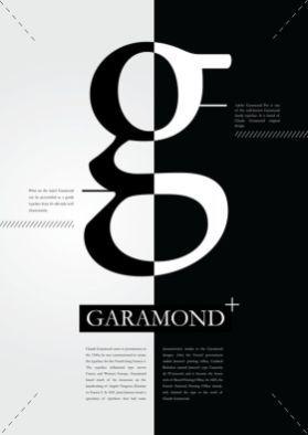 Garamond Typographie Contraste