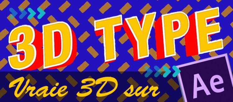 Créez des typographies en 3D sur After Effects