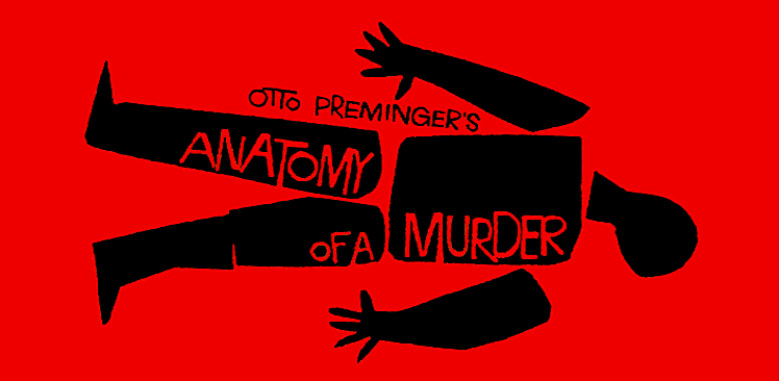 """Saul Bass movie poster pour Otto Preminger film""""Anatomy of a Murder"""""""