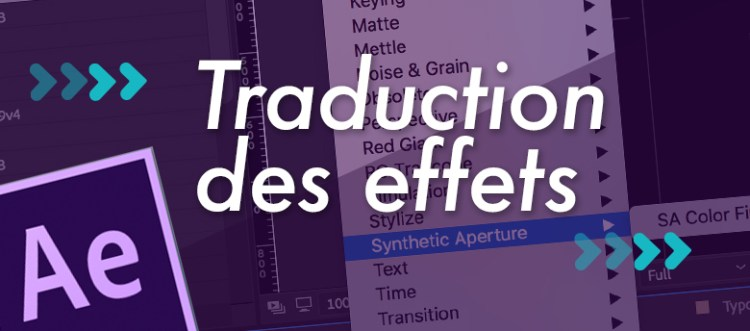 Traduction des Effets After Effects - Motion Design