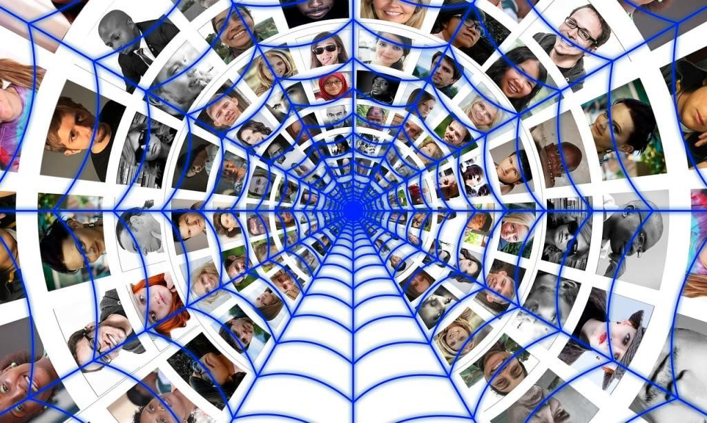 Toile de réseau de gens qui sont connectés