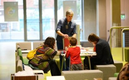 John O'Flynn leading a family mapping exercise