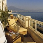 Grand Hotel Vesuvio: great views over Bay of Naples, Italy