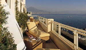 View from Grand Hotel Vesuvio Naples Italy