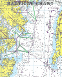 NAUTICAL CHART From: GUIDE TO CRUISING MARYLAND WATERS Publisher: MARYLAND DEPARTMENT OF NATURAL RESOURCES