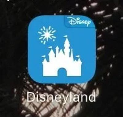 カリフォルニアのディズニーランドアプリ