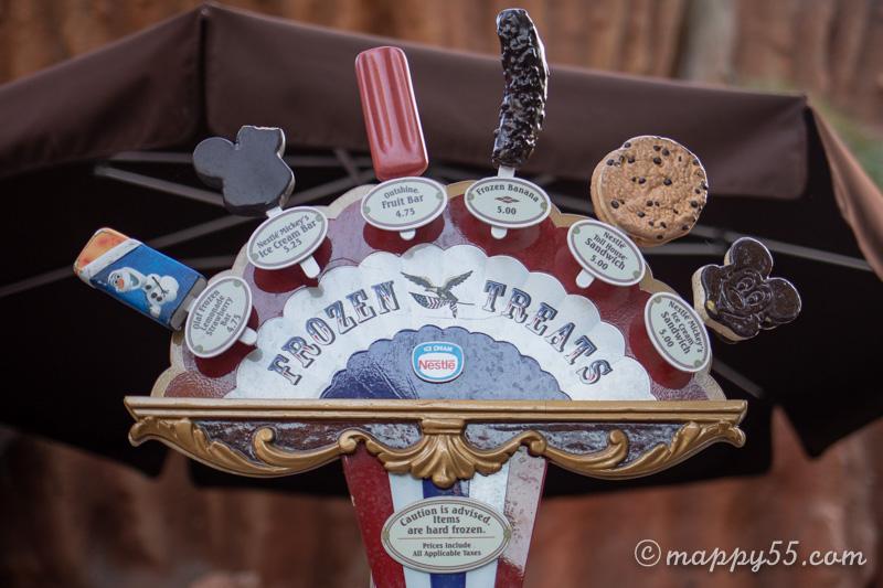 カリフォルニアディズニーランドにあるワゴンのアイスクリーム