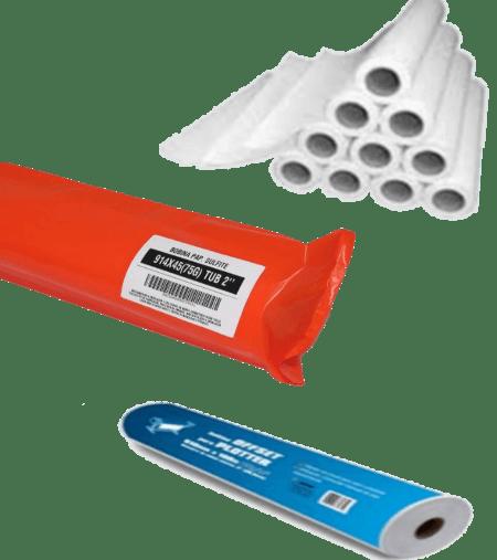 Bobina papel sulfite 914x50 75g tub 2