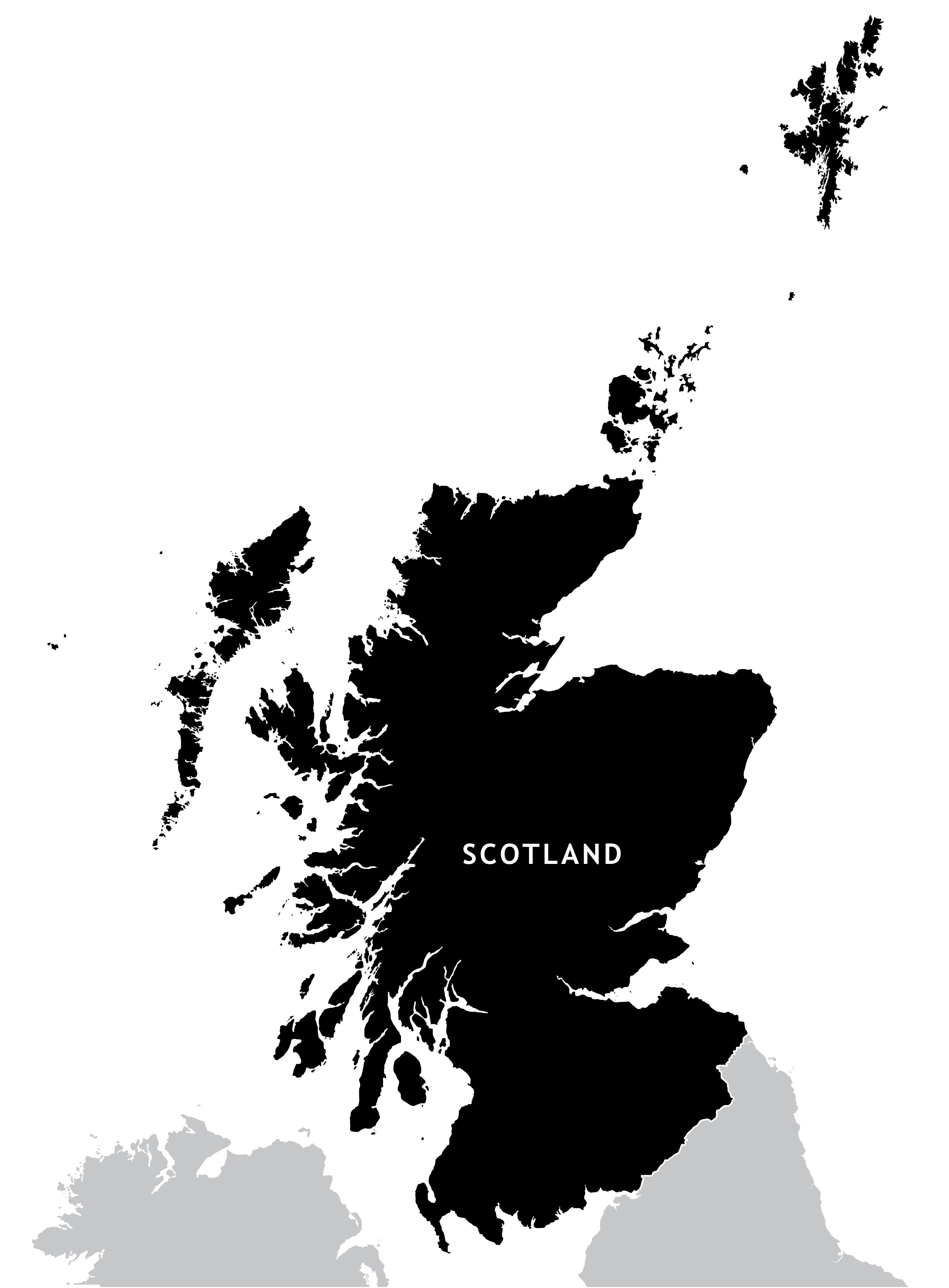 Scotland outline map   royalty free editable vector map   Maproom Scotland outline map preview Editable vector map of Scotland preview preview