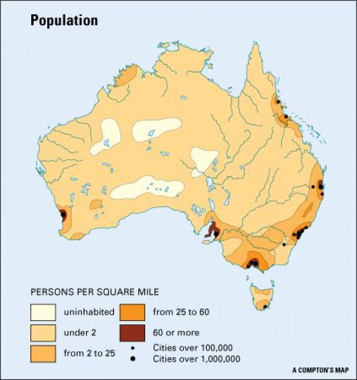 Population Density Map Australia