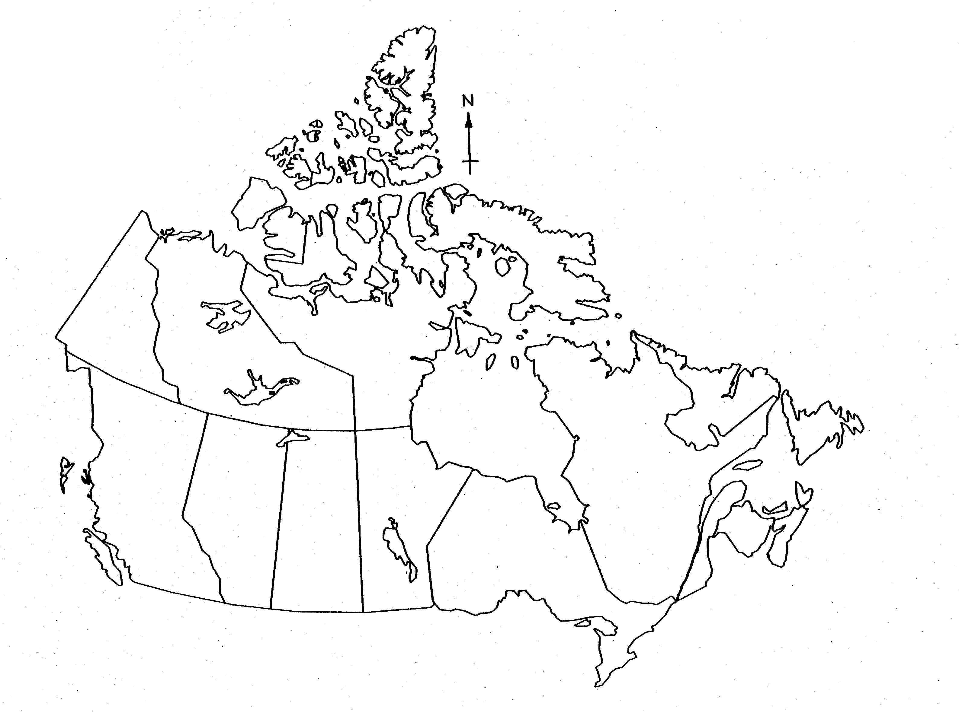 Blank Map Of Canada For Kids
