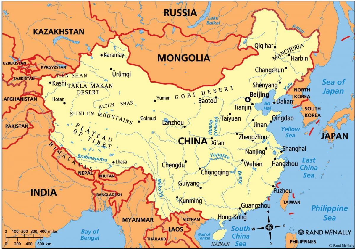 China Political Map