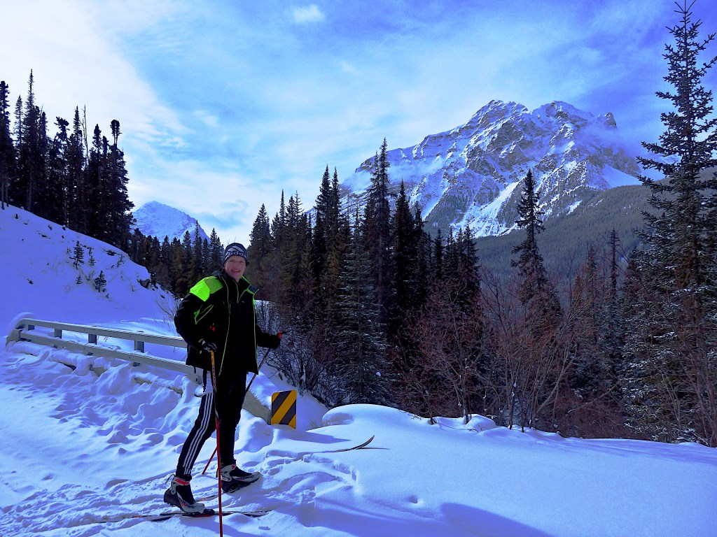 Crosscountry skiing Kanada Mt Edith Cavell